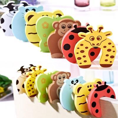 Children Safety Cartoon Door Clamp Pinch Hand Security Card Cute Door Stopper
