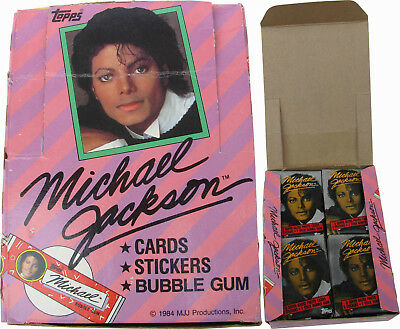 Michael Jackson Lot Cartes Gum Set TOPPS 1st Trading Cards COMPLETE BOX 1984 NEW
