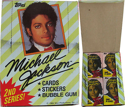 Michael Jackson Lot Cartes Gum Set TOPPS 2nd Trading Cards COMPLETE BOX 1984 NEW