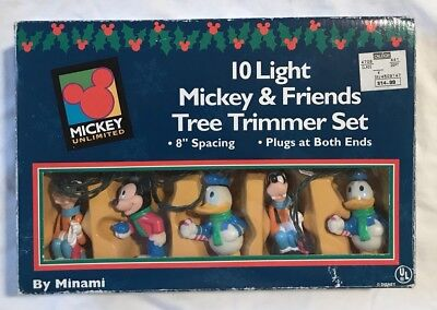 Disney Mickey Unlimited Mickey & Friends 10 Christmas Lights String Lights