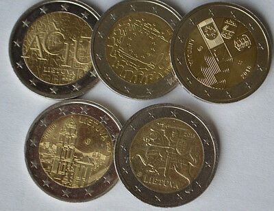 2 Euro coins Lithuania Knight Commemorative  Circulated