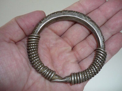 Heavy Coin Silver Twisted Wire Hmong or Hilltribe Bracelet Laos – 140 grams
