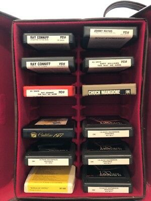 8 Track Tapes Lot 12 & Case 13 X 10 Chuck Mangione  Johnny Mathis  Andy Williams