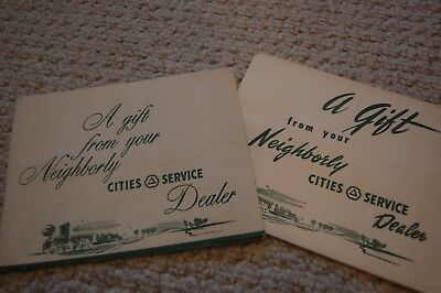 Two Vintage Cities Service Promotional Brochures