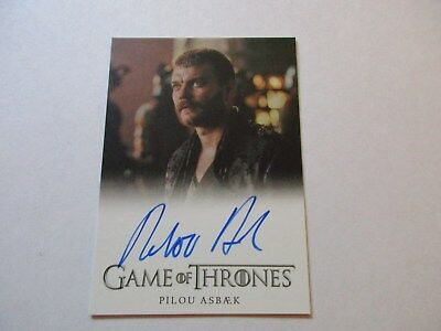Game of Thrones Season 7 - Pilou Asbaek as Euron Greyjoy Autograph Card