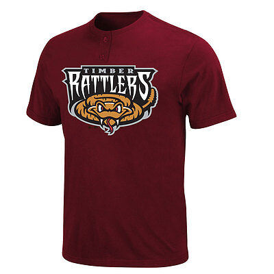 Milwaukee Brewers MLB Affiliate MiLB Wisconsin Timber Rattlers 2 Button T shirt