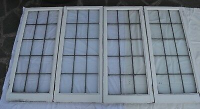 4 British big plain leaded light stained glass window panels. R813a. DELIVERY!