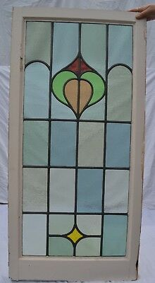 British leaded light stained glass window panel. R760b. WORLDWIDE DELIVERY