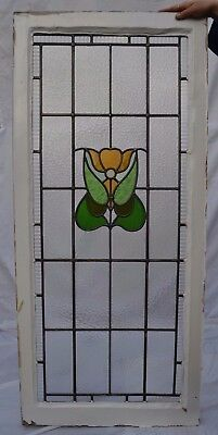 1 British stained glass leaded light window panel. R623.
