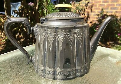 Antique Mark Willis English Electroplate silver teapot