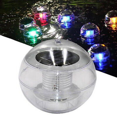 Solar Floating Underwater LED Color Changing Light Swimming Pool Garden Lamp
