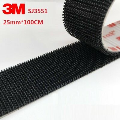 1M x 25mm 3M SJ3551 Dual Lock 400 Stem BLACK SUPER HEAVY DUTY VHB ADHESIVE