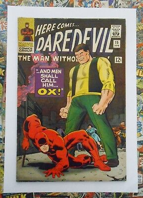 Daredevil #15 - Apr 1966 - Ox Appearance!  - Fn (6.0) Cents Copy!!