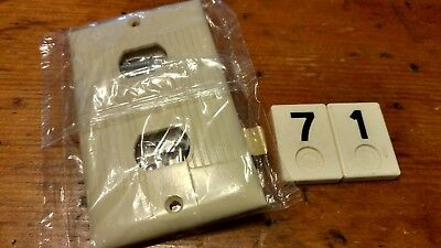 1 NOS Ivory Eagle 2 Position Despard Switch Plate Cover Tuxedo Style - B71