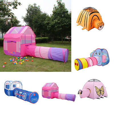 2-in-1 Pop up Play Tent with Crawling Tunnel for Kids Indoor Outdoor Garden Play
