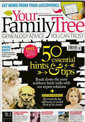 YOUR FAMILY TREE Magazine July 2015 - 50 Essential Hints & Tips