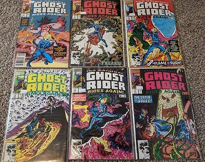 The Original Ghost Rider Rides Again, issues 1,2,3,4,5,7 - Bagged and Boarded