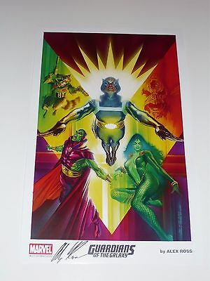 2015 SDCC NEW GUARDIANS OF THE GALAXY ART PRINT 1 by ALEX ROSS SIGNED 11x17