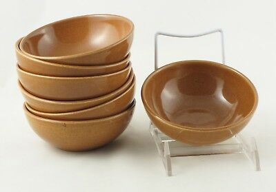 """Russel Wright Iroquois Ripe Apricot 7 Small Cereal Bowls 5-1/4"""" X 2"""" EUC!!"""