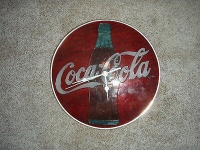 coke stained glass clock