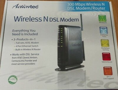 ACTIONTEC GT784WN 300 Mbps 4-Port 10/100 Wireless N Router (GT784WN