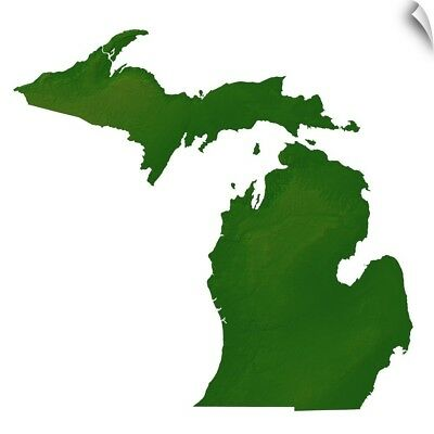 Wall Decal entitled Map of Michigan