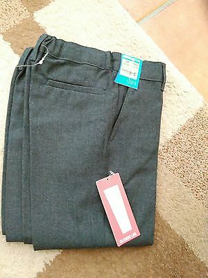 new boys marks and Spencer school trousers age 3- 4 years grey 2 pairs