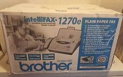 New! Brother IntelliFAX 1270e Plain Paper Fax Machine in Open Box