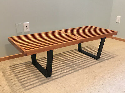 Tremendous Early Vintage 48 Herman Miller George Nelson Bench Theyellowbook Wood Chair Design Ideas Theyellowbookinfo