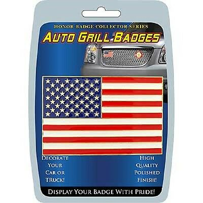 Patriotic Auto Grill Badge - New - Must See