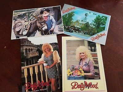 DOLLYWOOD PIGEON FORGE TENNESSEE USED Postcards Set of 4 Used Silver Dollar City