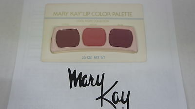 🍀 NEW RARE VINTAGE ‡ Mary Kay Lip Color Trio Palette Cool Ivory Collection 0486
