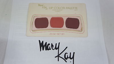 🍀 NEW RARE VINTAGE ‡ Mary Kay Lip Color Trio Palette Great Fashion Corals 0471