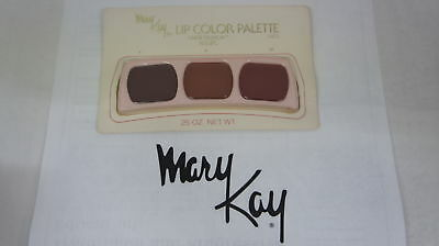 🍀 NEW RARE VINTAGE ‡ Mary Kay Lip Color Trio Palette Great Fashion Russets 0472