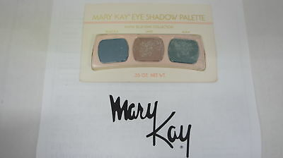 🍀 RARE NEW VINTAGE ‡ Mary Kay Eye Shadow Trio Palette Warm Blue/Pink Collection