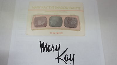 🍀 RARE NEW VINTAGE ‡ Mary Kay Eye Shadow Trio Palette Warm Plum/Gray Collection