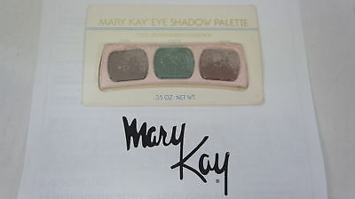 🍀 RARE VINTAGE ‡ Mary Kay Eye Shadow Trio Palette Cool Brown/Green Collection