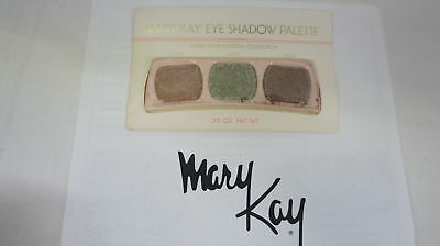 🍀 RARE VINTAGE ‡ Mary Kay Eye Shadow Trio Palette Warm Brown/Green Collection