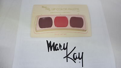 🍀 RARE VINTAGE ‡ Mary Kay Lip Color Trio Palette Great Fashion Forecast 0468
