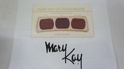 🍀 RARE VINTAGE ‡ Mary Kay Lip Color Trio Palette Warm Bronze Collection 0491