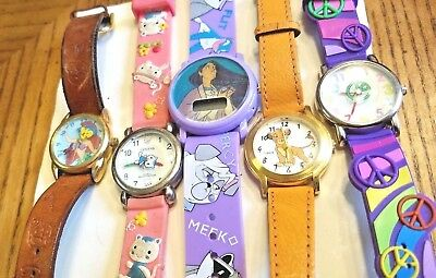 Lot of 5  --- Vintage Character Watches ..