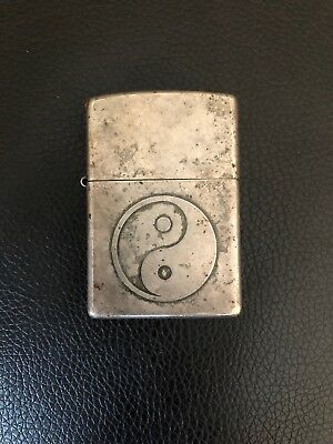 Vintage Zippo Lighter. Bradford, Pa. Made In USA. Peace Sign