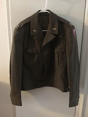 Ww2 Officer Ike Jacket Size 42 Rare Jewish Officer Named With Dog Tags