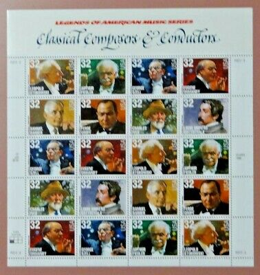 Scott #3165a Composers And Conductors Mint Sheet ( Face Value  $6.40 )