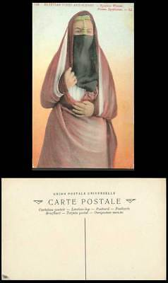 Egypt Old Postcard Cairo, Native Egyptian Woman, Caire Femme Egyptienne L.L. 149