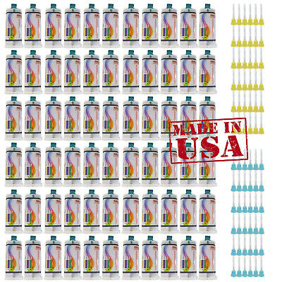 up to 66x 50ml Fast Set Dental VPS Impression Material cartridges All Shades Tip
