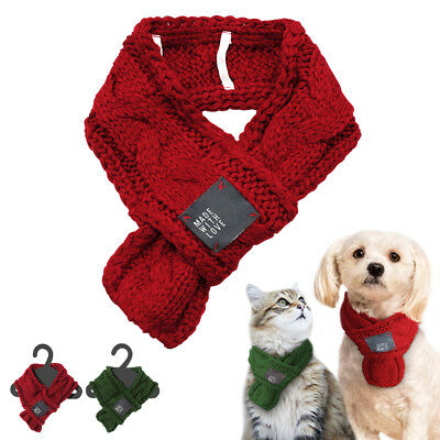 Knitted Winter Dog Collar Scarf Neckchief Warm for Small Large Dog Pet Puppy Cat