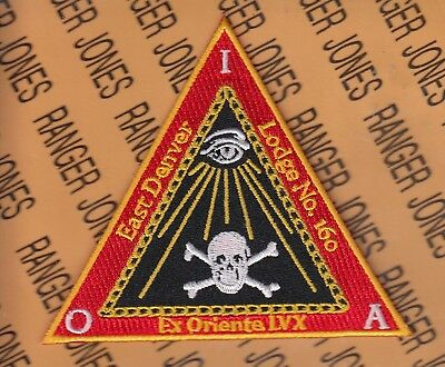 Masonic Lodge Knights Templar East Denver Lodge #150 Colorado patch