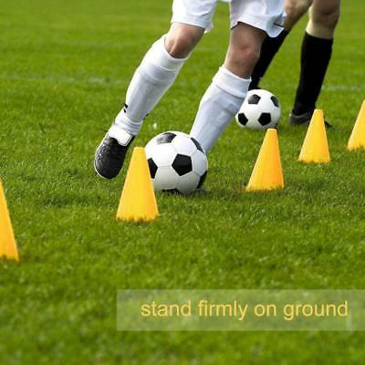 10Pc Marker Cones Slalom Football Soccer Rugby Traffic Training Barriers Tool ZY