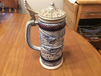 Vintage Avon Collectible Lidded Stein - Classic Airplanes -  1981